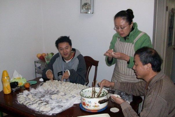 making homemade dumplings china